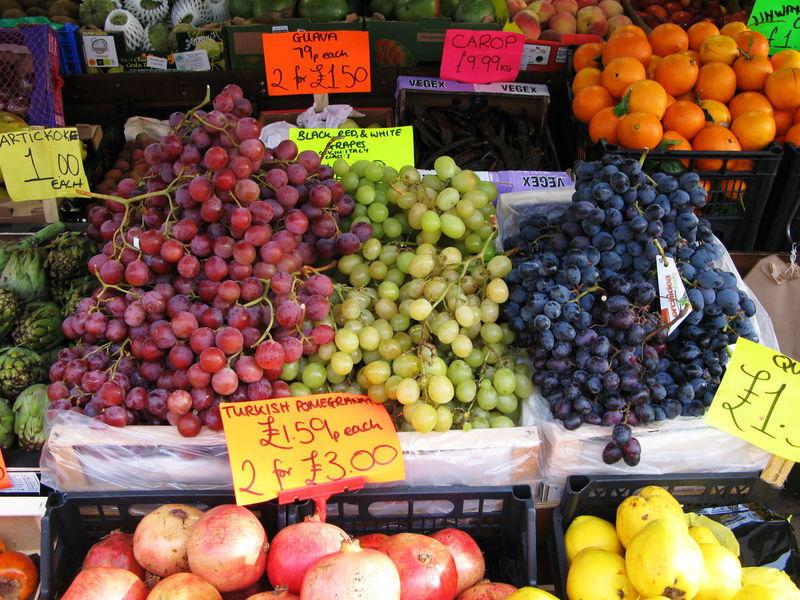 Abundance Brighton London Road Close-up Delicious Ethnic Food Food And Drink Freshness Fruit Grapes Healthy Eating Large Group Of Objects Market Multi Cultural Organic Ripe Still Life Street Pmg_lon