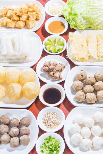 a photo of meat ball for hot pot Chinese Food Fish Ball Food Hot Pot Ingredient Meat Ball Meat Love Raw Food Sauce Spices