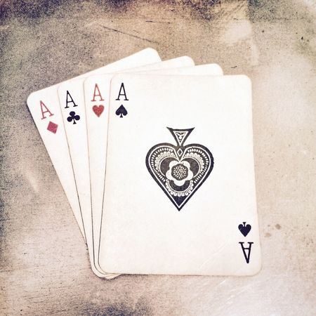 Four Aces Playing Cards Ace Ace Of Spades Aces Cards Game Gaming Gambling Gamble Gambler Poker Game Looking Down No People Hand Playing Four Play Sport Sporting Hope Card Game Card Games Bet Betting Show