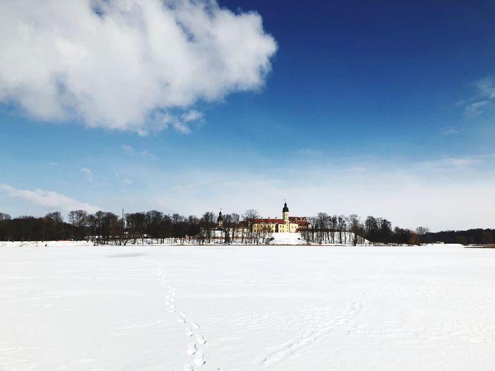 Snow Winter Cold Temperature Architecture Sky Building Exterior Weather