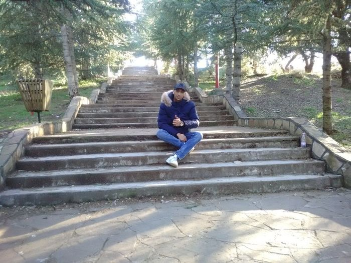 Steps Full Length Staircase Two People Steps And Staircases Childhood Day Leisure Activity Real People Lifestyles Outdoors Togetherness Nature Tree People Adult Park National Chrèa, Blida