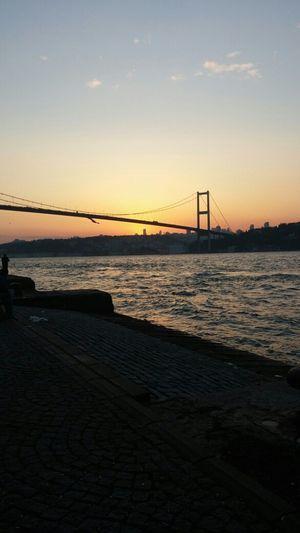 Beautiful Sunset Istanbul - Bosphorus Boğaz Köprüsü