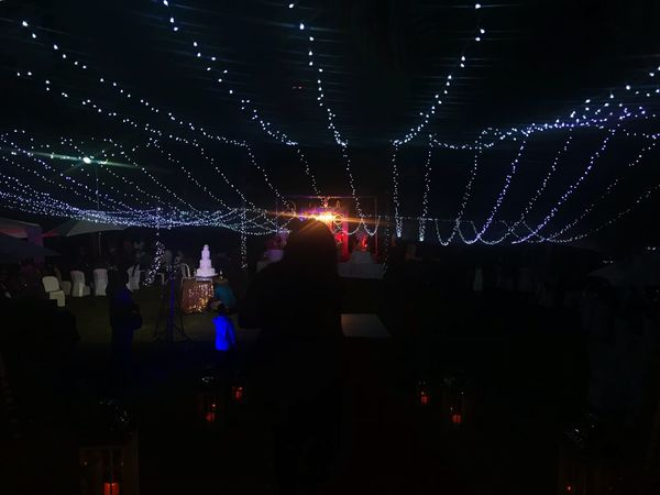 The wedding reception Wedding Night Illuminated Arts Culture And Entertainment Event Outdoors Nightlife Enjoyment