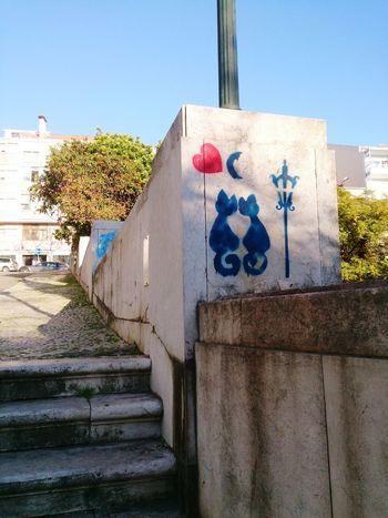 Chats Amoureux Lisboa Stencil Art