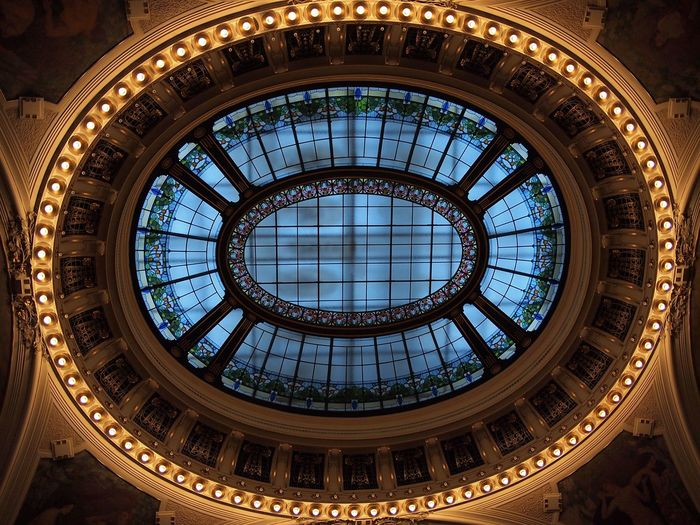 Praha 2011 Praha Czech Republic Art Nouveau Architecture Hall Smetana Hall Obecni Dum Architecture Built Structure Indoors  Dome Pattern Geometric Shape No People Ceiling Architectural Feature Design Circle Skylight Ornate Building