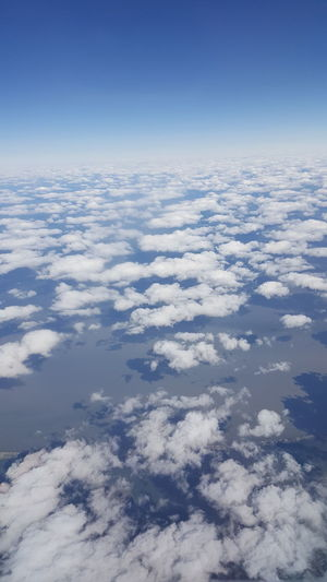 Aerial View Backgrounds Beauty In Nature Blue Cloud - Sky Day Nature No People Outdoors Scenics Sky Space The Natural World Tranquility White Color