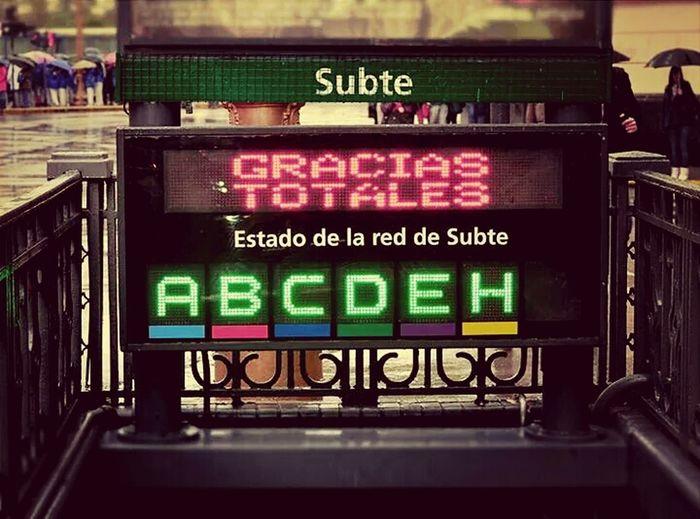 Gustavo Cerati Gracias Totales Subte LINEA D
