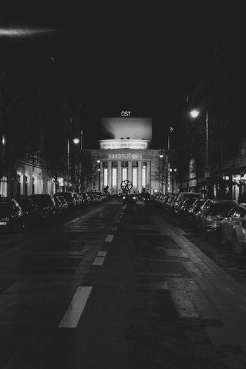 Architecture Berlin Nights Berlinstagram Illuminated Night Night View Nightphotography No People Outdoors Street Transportation Volksbühne Volksbühneberlin