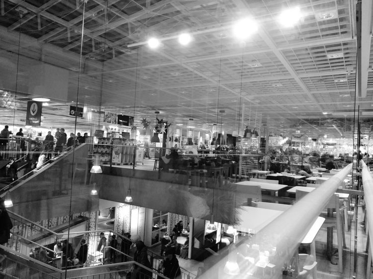 Illuminated Indoors  People Bnw Bnw_collection Bnwphotography IKEA Saturday Saturday Afternoon Blackandwhite Black And White Black & White Blackandwhite Photography Black&white Black And White Photography Bnw Photography