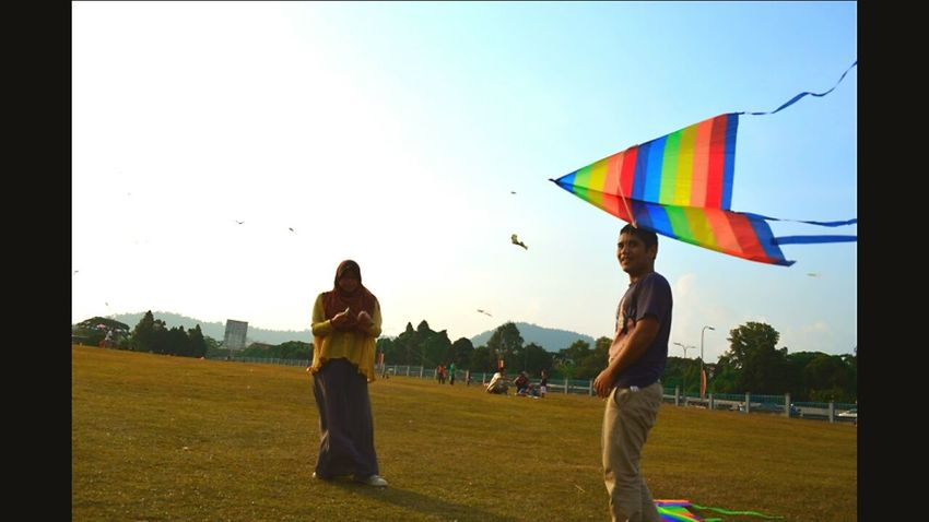 The Human Condition Flying A Kite Hanging Out Enjoying Life
