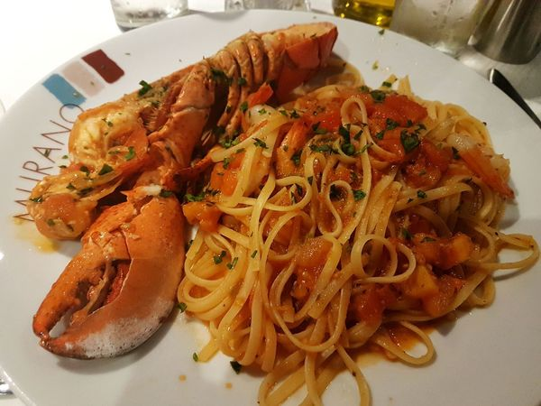 dinner time Lobster Linguine Food And Drink Food Seafood Ready-to-eat Indoors  Plate Healthy Eating Italian Food Close-up