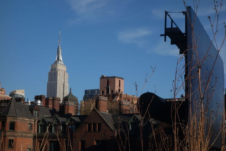Empire state building seen from the high line Architecture Autumn Colors Buildings & Sky City City Life Empire State Building High Line Park, Nyc Original Strolling