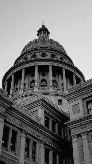 Low Angle View Of Texas State Capitol Against Sky