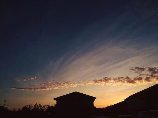 Sillhouette Sunrise Morning Sky