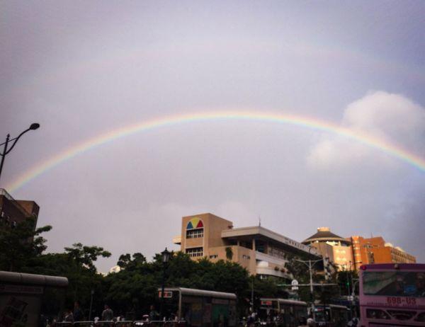 Before typhoon. Rainbow Sky Weather Outdoors Nature City OpenEdit IPhone Photos City Life 毎日仕事終わり前に EyeEm Best Shots Car