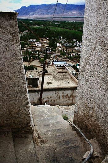 Trees And Mountains Landscape_Collection Mountains In Background Feel The Journey Inside Photography Stairs Ladakh_lovers Original Experiences Travel Photography Ladakh Ladakh A View From The Top June 2016 Gorgeous View Jammu And Kashmir Thiksey Monastery Thikseymonastery Walls