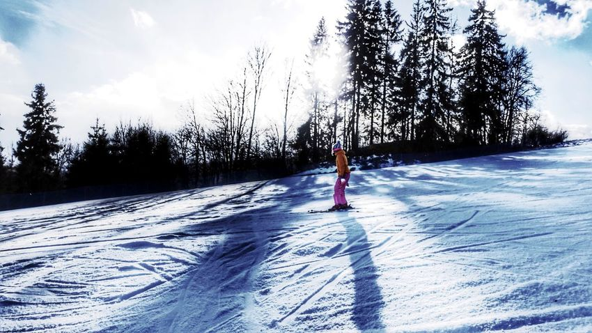 Peace of mind. Ways Of Seeing Long Shadows Clear Thoughts Winter Skiing Real People Leisure Activity Landscape Mountain Silhouette Zakopane Silouette & Sky Beauty In Nature Ski Holiday Skiing Winter Sports Leisure Time Peaceful Press For Progress