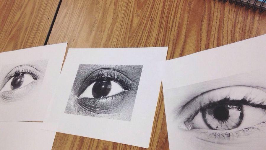 Art class Eyes Project