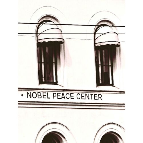 Outdoors Architecture Nobel Peace Center Black & White