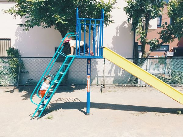 Hello My Baby Vscocam VSCO Vscogood Playground Childhood Outdoor Play Equipment Built Structure Tree Leisure Activity Park - Man Made Space Architecture Day Outdoors Playing Jungle Gym Building Exterior Fun Girls Lifestyles Full Length One Person Child People