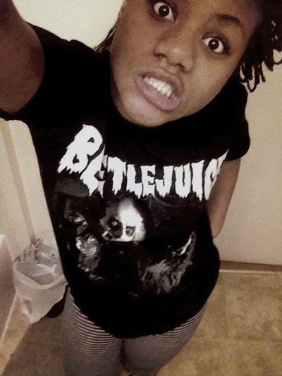 Peep My Shirt. It Say BeetleJuice