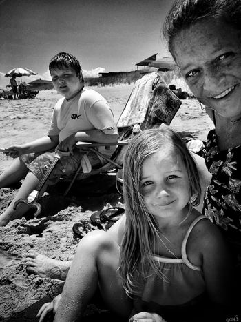 Beach Togetherness People Vacations Outdoors Beautiful Blackandwhite Photo Of The Day OBX North Carolina Journeyoflife Blackandwhite Photography Simple Moments ILoveThisLife Photooftheday Myjourney Myinspirations TheThingsILoveMost Smiling Real People Child Girls Adult Leisure Activity Sea Childhood