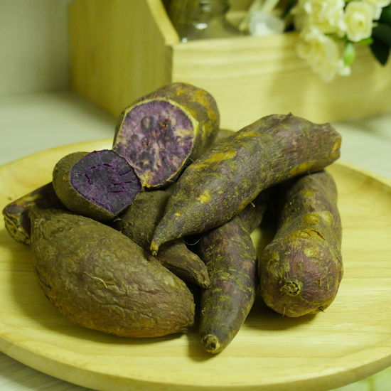 Close-up Day Food Food And Drink Freshness Healthy Eating Indoors  No People Potatoes Purple Purple Potatoes Sweet Potatoes
