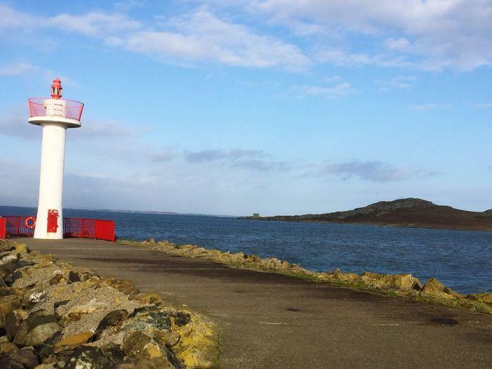 Sea Beach Guidance Tower Lighthouse No People
