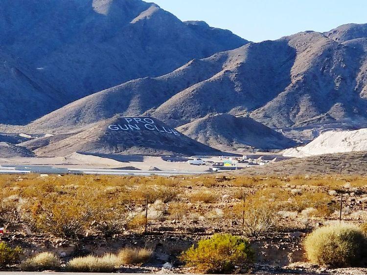 Mountain Landscape Nature Mountain Range Outdoors Desert Gun Club Boulder City Nevada