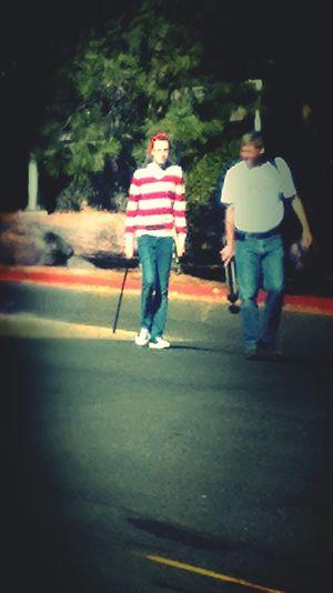 Walking Around Where's Waldo? Enjoying The Sun Escaping Taking Photos