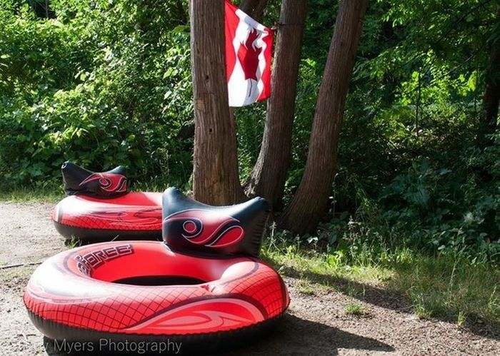 Camping Balsam Lake Provincial Park Balsam Lake Float Away Taking A Break Canada Flag The OO Mission