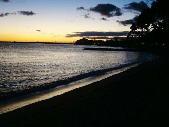 Beach Sunset Hawaii Oahu Waianae Majestic Ocean View Oceanlife Sunset_collection Sunset Silhouettes Beach Sunset
