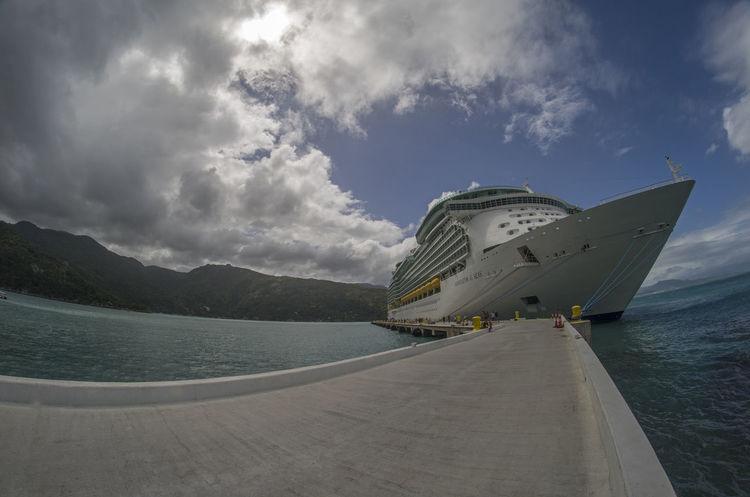 Cruise Ship Haiti Big Boat Boat Boat Dock Cruise Landscape Ocean Sky Sky Scape Vacation