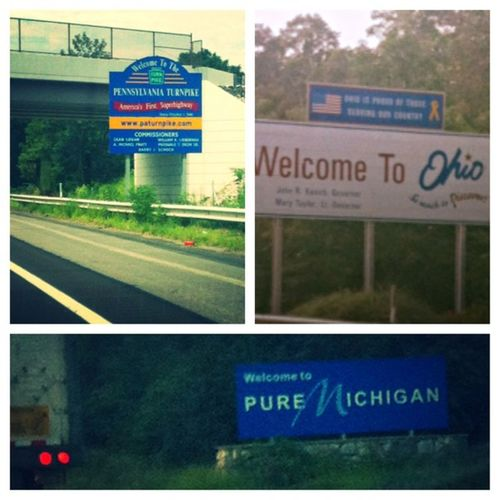 Lord it's been a long day! But I made it ? NJ➡PA➡OH➡MI Picstitch