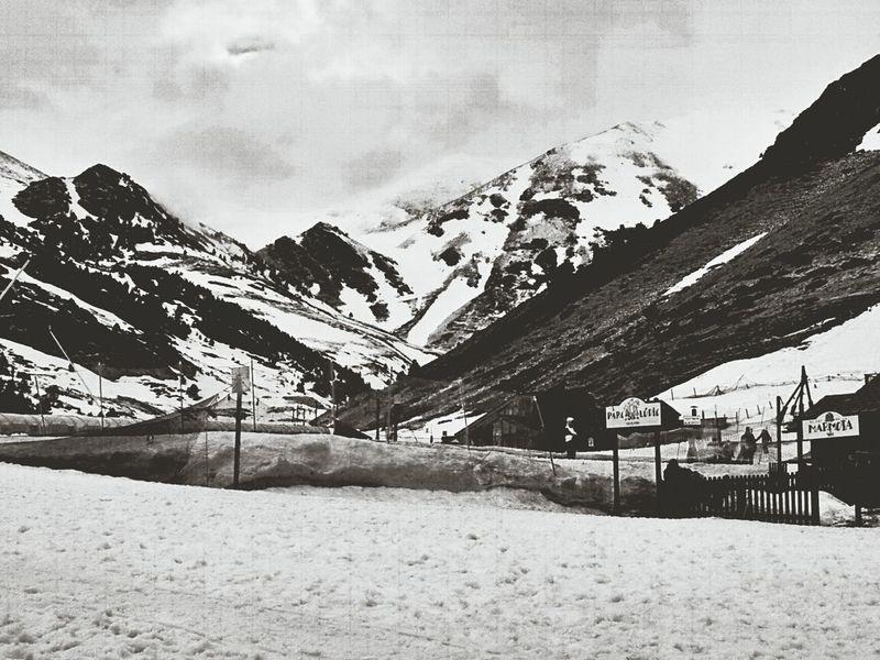 Blackandwhite Snowing Vall De Núria