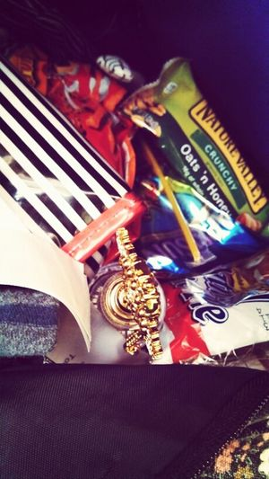 nothing but junk food in my backpack :b