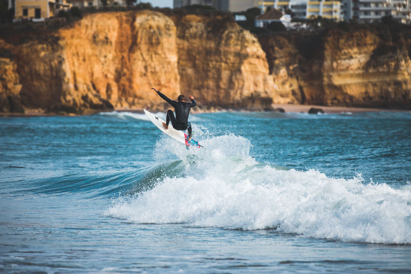 What beautiful beach ... and the surfing action of my friends was insane to watch! Algarve Jump Portugal Surf Adventure Beauty In Nature Day Leisure Activity Men Motion Nature Ocean One Person Outdoors Real People Sea Surfing Water Waterfront Wave