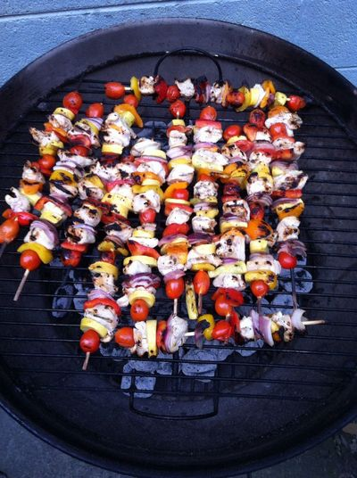 Also grilling chicken kabobs ICanCookMyAssOff Nomnombomb TheVille Streamzoofamily
