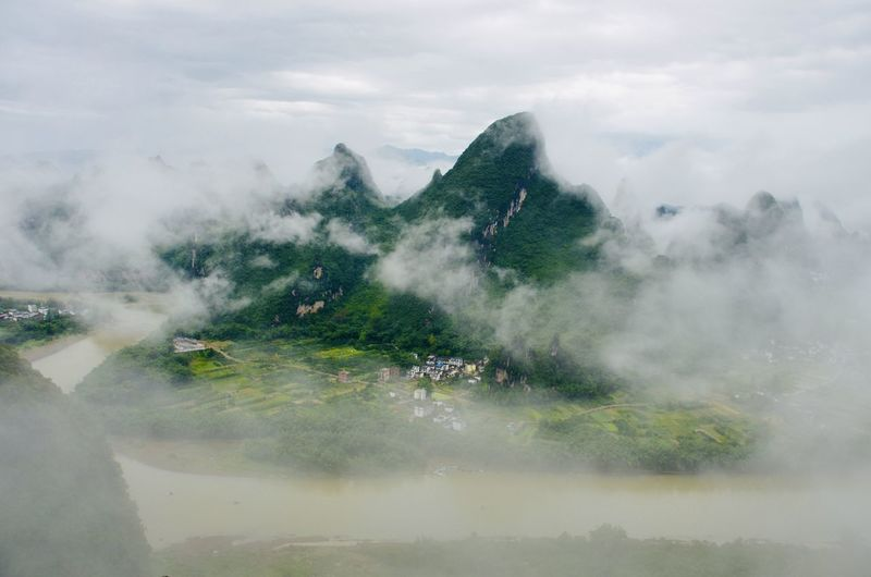 Lookout of the karst mountains of guilin, guangxi, china