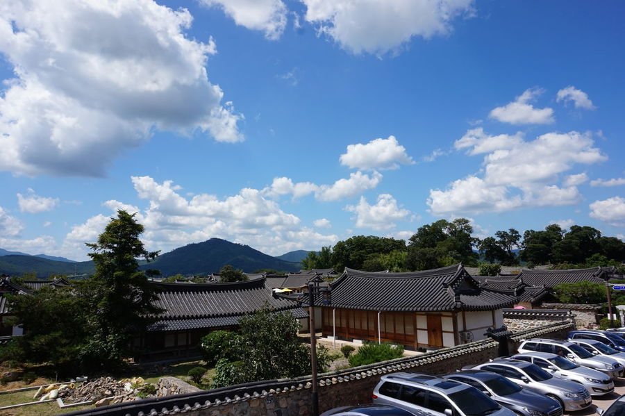 Gyeongju Korea Korean Korean Traditional Architecture Travel Traveling Trip Architecture Building Exterior Built Structure Car Cloud - Sky Roof Sky Sony A5000 Tiled Roof  Tree
