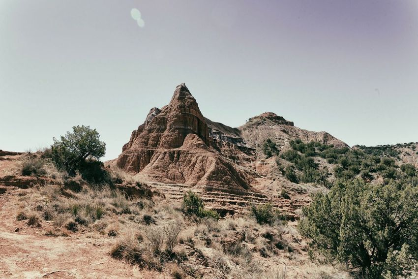 Palo Duro Canyon Rock Formation Landscape Nature Geology Beauty In Nature Rock - Object Tranquility Clear Sky Desert Tranquil Scene Scenics Arid Climate Mountain Idyllic Day Sky Outdoors No People Travel Destinations
