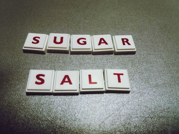 the words sugar and salt made from letters Leisure Games Studio Shot Sugar And Salt Made From Letters Red Red Letters Food Terms