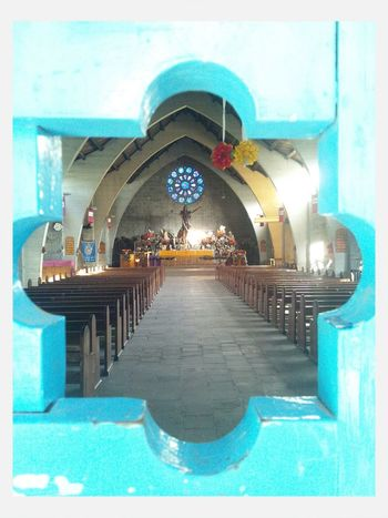 Through the doors of a church in the mystical place of Sagada, Philippines. Sagadaprovince Mountainprovince Philippines Travel