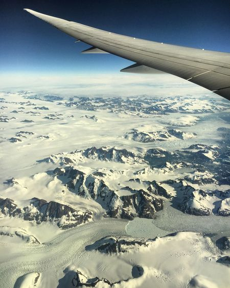Mode Of Transport Airplane Transportation Scenics Aircraft Wing Landscape Aerial View Air Vehicle Part Of Beauty In Nature Season  Travel Cropped Tranquil Scene Snow Mountain Winter Cold Temperature Tranquility Nature