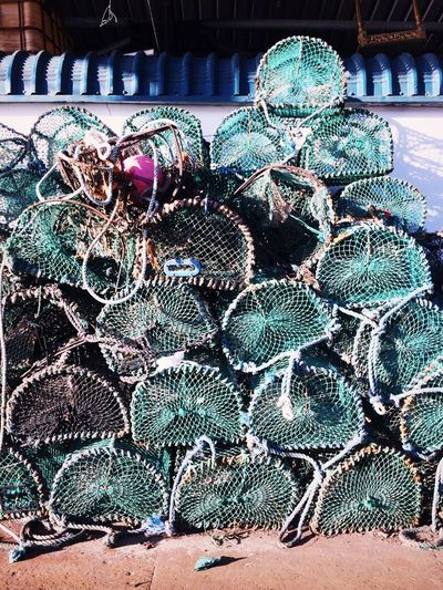 Lobster traps. North Shields, England. Photo by Tom Bland. Large Group Of Objects Fishing Seafoods Fishing Industry Fish Quay North Shields Commercial Fishing Coastal Harbour Harbor Lobster Traps Lobster Trap Tyneside Outdoors IPhone IPhoneography Equipment Lobster Cages