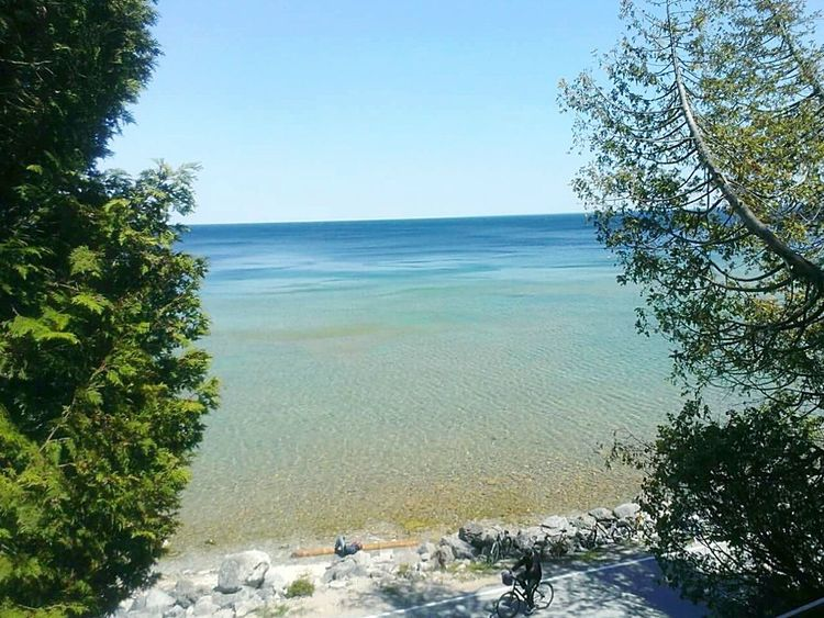 Mackinac Island Northern Michigan Nature Spring 2015 Great Lake Water Natural Blue Trees Blue Sky Original Experiences