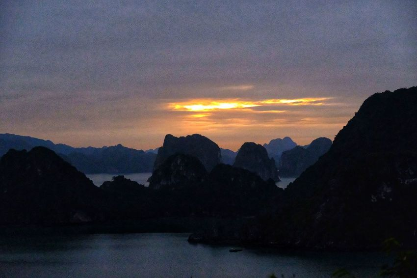 vietnam halong bay N Vietnam Halong Bay Multi Colored Landscape Sky No People Cloud - Sky Tranquil Scene Mountain Beauty In Nature Vietnam Sea Beach Tranquility Silhouette Outdoors Forest