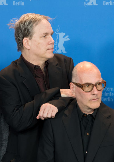 Berlin, Germany - February 21, 2018: American screenwriter James Greer and writer Jonathan Bernstein pose at the 'Unsane' photo call during the 68th Berlinale International Film Festival 2018 Famous Film Festival James Greer Jonathan Bernstein Berlinale Berlinale 2018 Berlinale Festival Berlinale2018 Berlinale68 People Popular Portrait Posing Posing For The Camera Two People Unsane