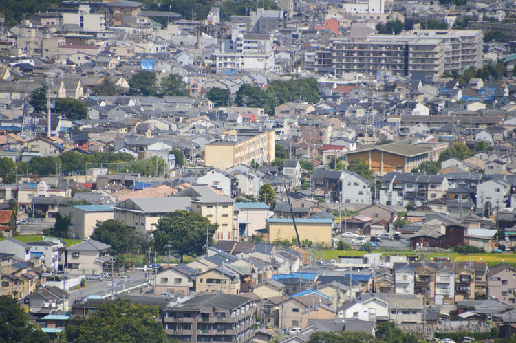 House Block At Kyoto Japan Houses Japan Japanese  Koyto Architecture Building Exterior Buildings City Cityscape Community Day High Angle View House Outdoors Residential Building Town