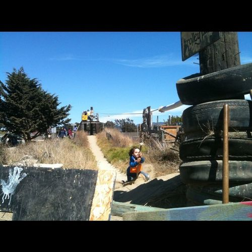 Logan getting sone zipline action @cidyv @jennala